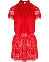 Lover Heather Mini Dress Rose red - Lyst
