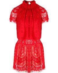 Lover Heather Mini Dress Rose - Lyst