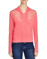 Romy & Ray - Stefan Sheer Stripe Knit Jacket - Lyst