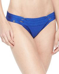 Hervé Léger Milou Twisted Cutout Swim Bottom - Lyst