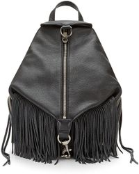 Rebecca Minkoff Julian Backpack With Fringe black - Lyst