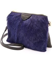 Deadly Ponies - Mr Siamese Fur Cross Body Bag Cobalt - Lyst