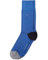 Calvin Klein Mens Giza Ribbed Dress Crew Socks - Lyst