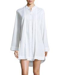 Donna Karan New York Sateen Cotton Sleep Shirt - Lyst