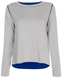 Paul Smith Women'S Blue And Grey Reversible Wool-Blend Sweater blue - Lyst