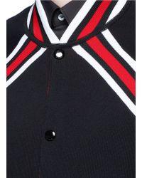 Givenchy | Contrast Stripe Teddy Jacket | Lyst