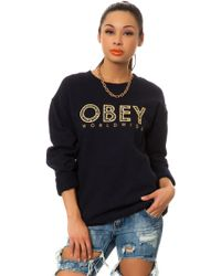 Obey The Brower Crewneck Sweatshirt - Lyst