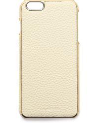 Adopted - Leather Wrap Iphone 6 Plus Case - White/Gold - Lyst
