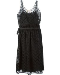 N°21 Tie Detail Embroidered Dress - Lyst