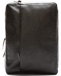 Maison Martin Margiela Black Leather Convertible Backpack - Lyst