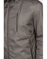 Armani Waterproof Pea Coat with Asymmetric Fastening - Lyst
