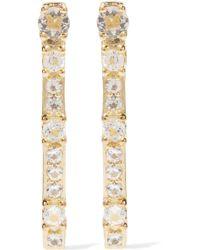 Elizabeth and James - Twiggy Gold-tone Crystal Earrings - Lyst