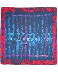 Etro Paisley Graphic Pocket Square - Lyst