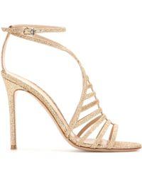 Gianvito Rossi Glitter Sandals - Lyst