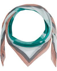 Jonathan Saunders Green Square Print Modal And Cashmere-Blend Scarf green - Lyst