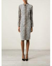 Rika - Rosa Leopard-Print Crepe Dress - Lyst