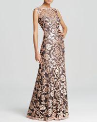 Tadashi Shoji Gown - Sleeveless Sequin Lace - Lyst