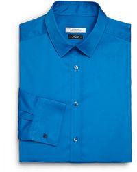 Versace Solid Cotton Dress Shirt - Lyst