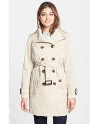 London Fog Double Breasted Trench Coat With Detachable Liner - Lyst