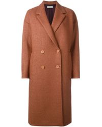 Paul by Paul Smith - Double Breasted Woven Coat - Lyst