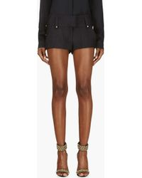 Anthony Vaccarello Navy Studded Mini Shorts - Lyst