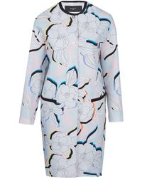 Paul Smith Black Label - Light Pink Miami Collarless Floral Coat - Lyst