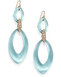 Alexis Bittar Vert D'Eau Lucite Medium Marquis Drop Earrings - Lyst