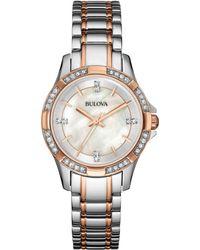 Bulova Women'S Two-Tone Stainless Steel Bracelet Watch 30Mm 98L209 - A Macy'S Exclusive - Lyst