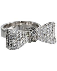 King Baby Studio Baby Bow Ring Pave Cz - Lyst