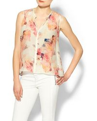Rebecca Taylor Sleeveless Garden Top - Lyst