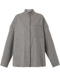 Haider Ackermann Oversized Flannelwool Shirt - Lyst