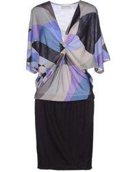 Emilio Pucci Knee-Length Dress purple - Lyst