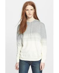 Band of Outsiders Zigzag Cotton Knit Hoodie - Lyst