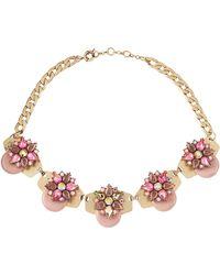 Panacea Epoxy Golden Collar Necklace - Lyst