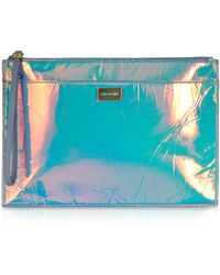 McQ by Alexander McQueen Hologram Leather Razor Edge Tech Clutch - Lyst