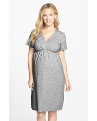 Japanese Weekend - Surplice Maternity/nursing Nightgown - Lyst