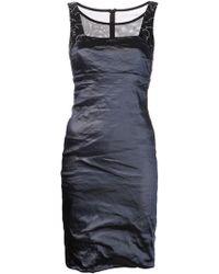 Nicole Miller Jewel Strap Dress - Lyst