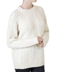 Rag & Bone White Valene Pullover - Lyst