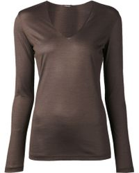 Akris V Neck Shirt - Lyst