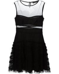 Diesel 'Basma' Sheer Ruffle Dress - Lyst