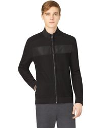 Calvin Klein Chest Stripe Zip Jacket - Lyst
