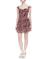 Joie Edelfina Floral-Print Silk Dress - Lyst