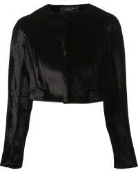 Derek Lam Cropped Velvet Jacket - Lyst