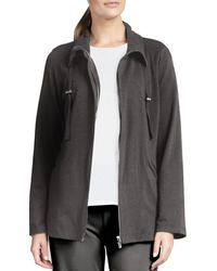 Eileen Fisher Organic Drawstring Jacket - Lyst