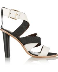 Twelfth Street by Cynthia Vincent Alisa Leather and Denim Sandals - Lyst