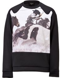 3.1 Phillip Lim Long Sleeve Pullover with Graphic - Lyst