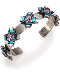 Dannijo Alexia Crystal Station Cuff Bracelet - Lyst