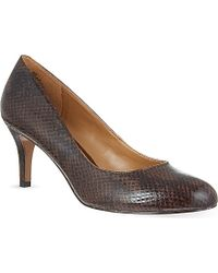 Nine West Applaud Snake Court Heels - Lyst