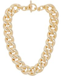 Michael Kors Gold Chain Necklace - Lyst