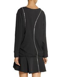Jay Ahr - Zip-detailed Crepe Mini Dress - Lyst